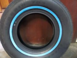 Two 235/75r15 Wide 3/4 Inch White Wall Antique Automobile Tires 105s