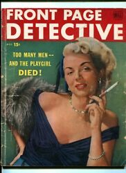 Front Page Detective December 1949-spicy Woman Smoking Cigarette Cover