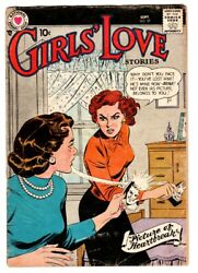 Girls' Love Stories 57 1958 Dc Romance- Fight Cover Comic Book