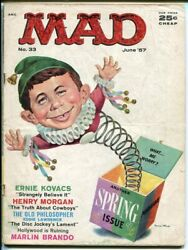 Mad 33-alfred In The Box Cover By Mingo-wood-orlando-drucker-1957-vg