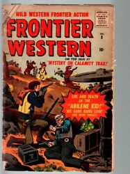 Frontier Western 9-atlas-1957-joe Maneely Cover And Story-abilene Kid-fr Fr