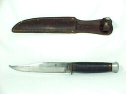 Vintage Bowie Knife - Romo Solingen, Germany And Sheath