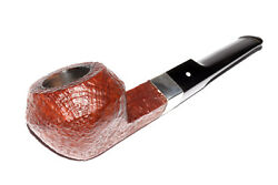 ONCE USED !! 1967 DUNHILL TANSHELL 580 SADDLE SQUAT BULLDOG 9MM PIPE w. STERLING