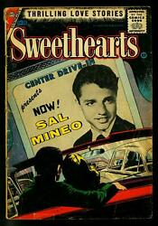 Sweethearts 39 1957- Sal Mineo Drive In Theater Cover- Charlton Romance- G