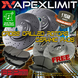 Front+rear Cross Drilled Rotors And Ceramic Pads For 2005-2006 Pontiac G6 276mm