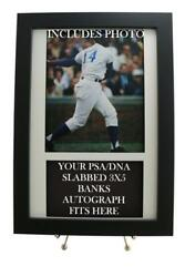 Framed Display For Your Ernie Banks Psa/dna 3x5 Autograph Includes Photo