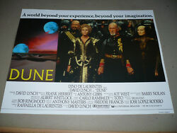 Dune Nr Mint Orig Uk Lcs [sting Kyle Maclachlan] - David Lynch Is The Director