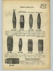 1905 Paper Ad 5 Pg Railroad Track Tools Crow Bar Level Gauge Mover Rail Saw Tong