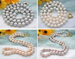 X0372 24 11mm Round Freshwater Cultured Pearl Necklace