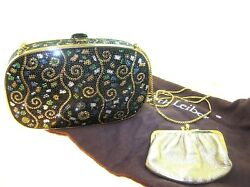 JUDITH LEIBER MINAUDIERE EVENING CLUTCHBAG - USED - EXCELLENT CONDITION- 2 OF 9