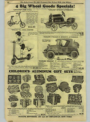 1926 Paper Ad Packard Stright 8 American National Pedal Car Cast Iron Toys Bus