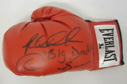 Riddick Big Daddy Bowe Signed Autographed Red Everlast Boxing Glove Bowe Coa