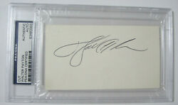Walter Payton Chicago Bears Cut Signed Autographed Cut Card Certified Psa Dna