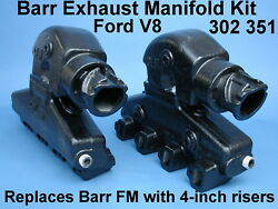 Ford Boat Engine Marine Exhaust Manifolds 302 5.0 351 5.8 Accepts 4-inch Ex Hose