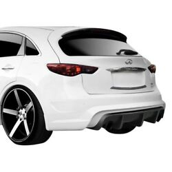 For Infiniti QX70 14-18 CT-R Style Fiberglass Rear Bumper Cover Unpainted