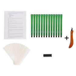 Majek Tour Pro Lime Green Std Size Golf Grips And Kit 13 Grips Tape See Detail