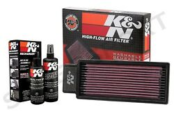 K&N 33-2039 Hi-Flow Air Intake Drop in Filter + 99-5050 Recharger Cleaning Kit