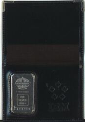 Engelhard 1 Oz Silver Bar Housed In Ibm Canada Company Wallet And Box With Logo