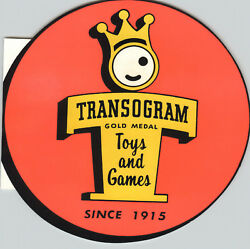 1957 Paper Ad Die Cut Transogram Toys Games Gold Medal