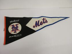 New York Mets Roll Up Pennant 4foot Long 19 Inches Wide Budweiser Baseball Mlb