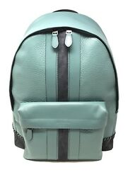 Coach Men's Charles Backpack With Baseball Stitch Cyan