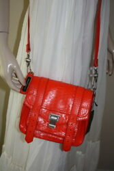 PS1 Proenza Schouler python pouch neon red messenger bag purse NWT $2750