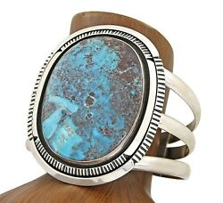 Museum Quality Handmade Navajo Begay Pauite Turquoise .925 Silver Cuff Bracelet