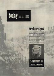 1954 Paper Ad Schoenhut Toy Play Piano Since 1872