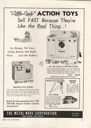 1951 Paper Ad The Metal Ware Toy Co Little Lady 15 Electric Range Stove Oven