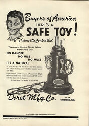 1948 Paper Ad Doret Toy Co Steam Generator Motor Engine Toys Electric