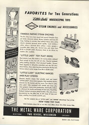 1948 Paper Ad Empire Toy Steam Engine Little Lady Play Electric Range Stove Iron