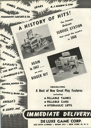 1948 Paper Ad 2 Pg Deluxe Game Toy Co Deluxe Gas Service Station Model Gas Pump