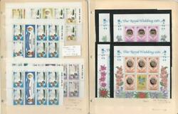 British Royalty Stamp Collection, 2 Pages Mint Nh Princess Diana Z1