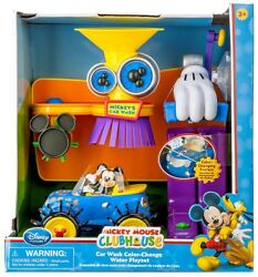 Disney Mickey Mouse Clubhouse Car Wash Color-change Water Exclusive Playset