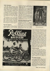 1948 Paper Ad Rollfast Bicycle Balloon Tire Tank Gibbs Toy Tops Chester Gyro