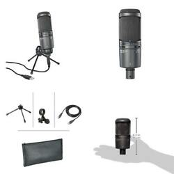 Audio-Technica AT2020USBPLUS Deluxe USB Cardioid Condenser Microphone