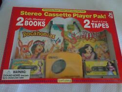 Pocahontas & Snow White cassette recorder tapes read a long books 1995 NEW NOS
