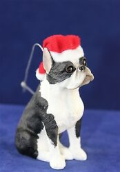 SandiCast Hanging Christmas Tree Ornament - Dog - Boston Terrier