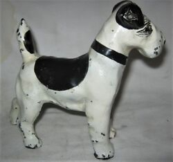 Antique Spencer Ct Usa Art Deco Solid Cast Iron Dog Statue Doorstop Hubley Toy