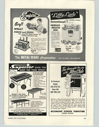 1954 Paper Ad Empire Toy Steam Engine Little Lady Electric Range Stove Oven