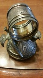 Victorian Silver Plated Napkin Ring Two Pheasants Meriden Spc 271