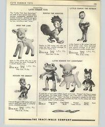 1955 Paper Ad Rempel Latex Rubber Toys Dolls Ostrich Lamb Frod Monkey Sun So Wee