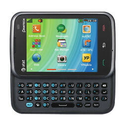 Pantech Renue P6030 Black (AT&T GSM Unlocked) Messaging Slide-Out QWERTY Phone