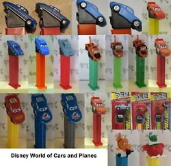 Pez - Disney World Of Cars And Planes Series - Choose Character From Menu