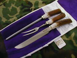 Randall Knife Knives 6-9, 3 Piece Carving Set,ss,nsrh,bl.-al.s,stag,nsp A2493