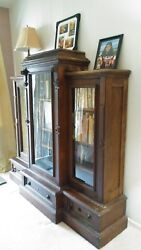 Antique Victorian Walnut 1880 Eastlake Style Library Bookcase Usa