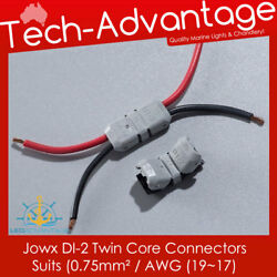 Jowx Di-2 Twin-core Non-stripping Wire Connectors 1917awg 5, 10, 20 And 50 Pack