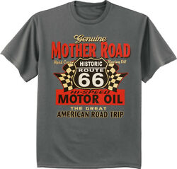 Big And Tall T-shirt Rt 66 Sign Decal Tee King Size Mens Shirts