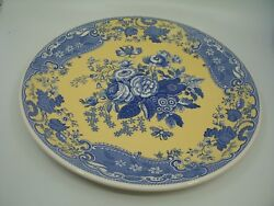 Spode Blue Room Garden Collection Blue Rose Pizza Plate England Flowers