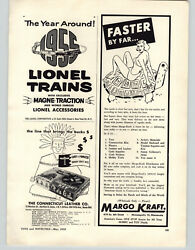 1955 Paper Ad Lionel Toy Electric Train Sets Magne Traction